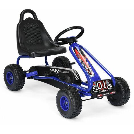 "main image of ""Kids Pedal Go Cart Children Outdoor Ride On Racer Plastic Wheels Adjustable"""