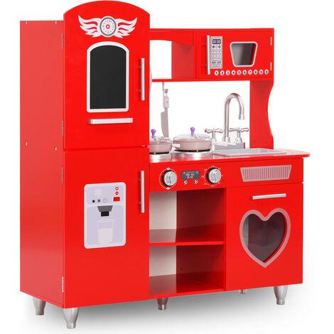Kids' Play Kitchen MDF 84x31x89 cm Red