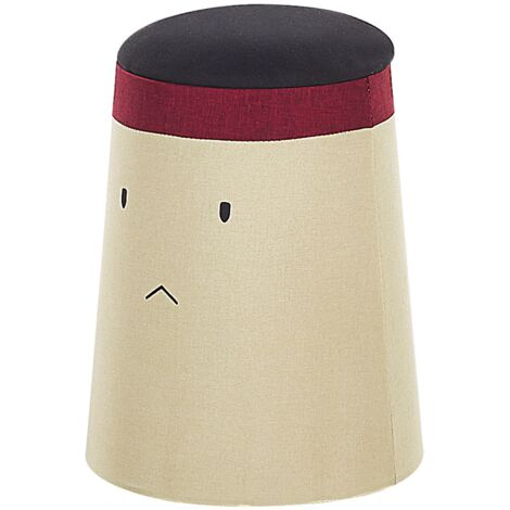 Kids Pouffe with Storage Beige SAMURAI