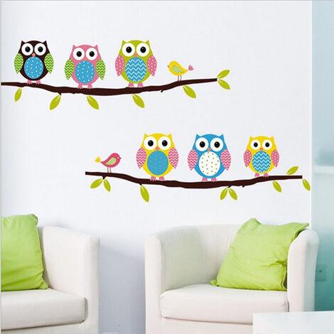 Kids Room Decals Owl Wall Stickers Art Mural For Baby Nursery DIY