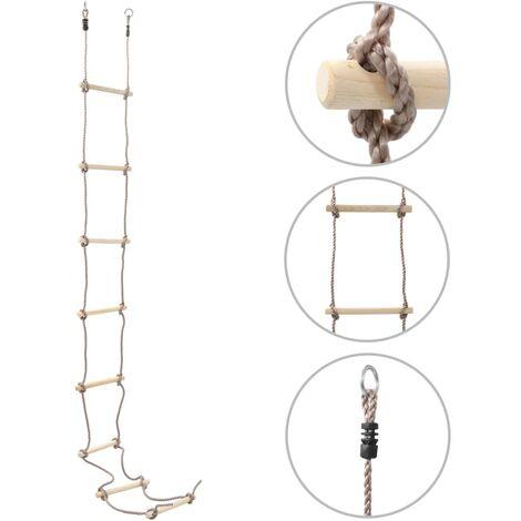 Kids Rope Ladder 290 cm Wood - Brown