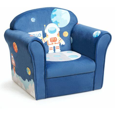 Kids Sofa Children Armchair Soft Seating Chair Astronaut Pattern Baby Nursery