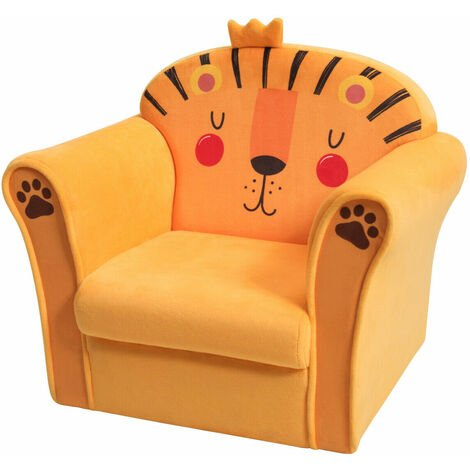 Kids Sofa Children Armchair Soft Seating Chair Cute Lion Baby Nursery Toddlers