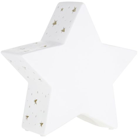 Kids Star Night Light, Ceramic, White