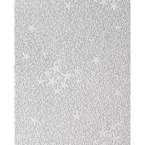 Kids vinyl wallpaper wall EDEM 533-30 luminous stars ceiling wall white grey 5.33 sqm (57 sq ft)