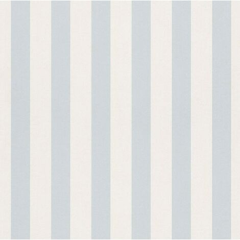 Kids Wallpaper Rasch striped Bambino light blue white 246025 (1,41£/1qm)