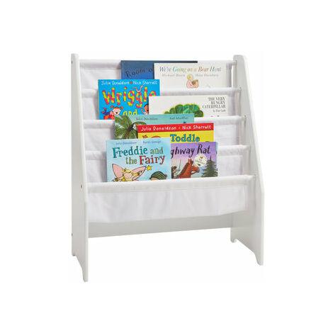 Kids White Wooden Book Display - White
