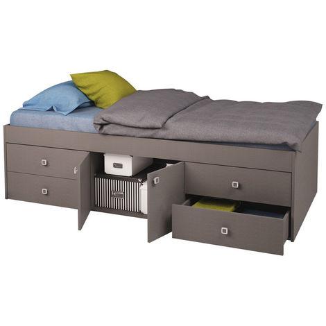 Kidsaw Captain's Single 3ft Cabin Bed GREY