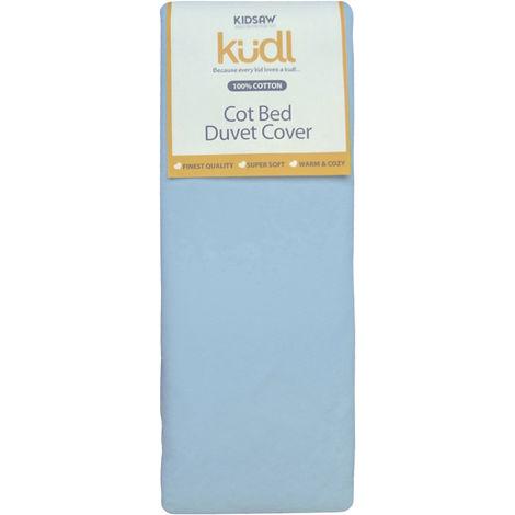 Kidsaw Kudl Kids Duvet Cover Cotbed 100% Cotton Blue