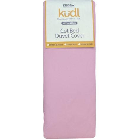 Kidsaw Kudl Kids Duvet Cover Cotbed 100% Cotton Pink