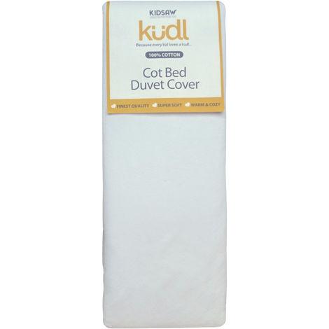 Kidsaw Kudl Kids Duvet Cover Cotbed 100% Cotton White