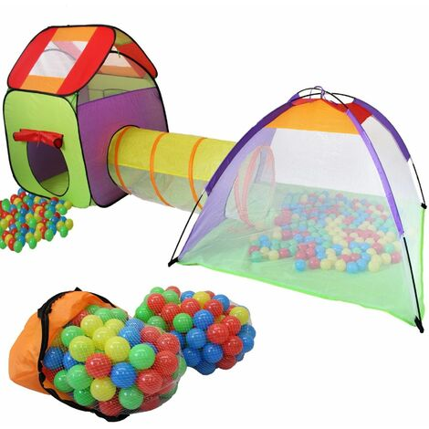 KIDUKU® Childs Play Tent with Tunnel Pop-Up + 200 Balls + Pocket for Indoor and Outdoor 3 In 1 Playground for Children Baby Kids