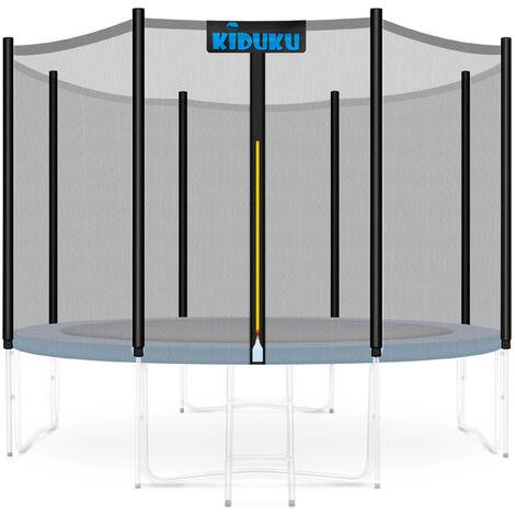 KIDUKU Filet de remplacement pour trampolines 244 305 366 427cm | Filet de sécurité avec fermeture résistant aux intempéries