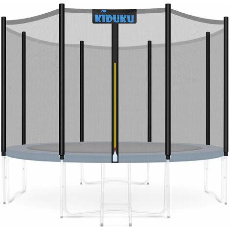 KIDUKU® Sicherheitsnetz Fangnetz Schutznetz Netz für Trampolin Ersatznetz 244 - 427 cm