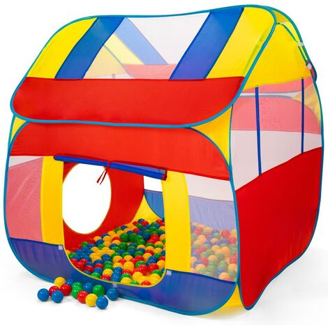 KIDUKU® Tienda de Juegos Infantil 300 Bolas | Piscina de Bolas | Carpa de Tela para Niños Pop Up + Bolsa para transportar - Uso interior y exterior