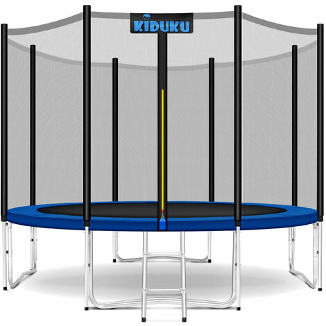 KIDUKU® Trampolin 244 - 427 cm Gartentrampolin Kindertrampolin Outdoor Komplettset Netz Leiter
