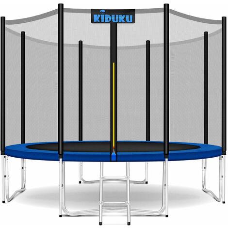 KIDUKU® Trampolin Gartentrampolin Kindertrampolin Outdoor Komplettset Netz Set 427 cm