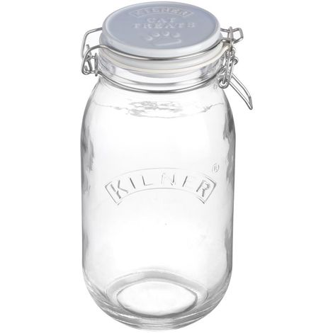 Kilner Cat Treats Glass Jar (2 Litre) (Clear)