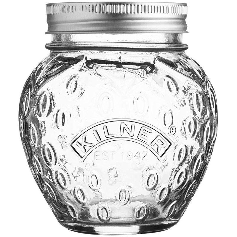 Image of Fruit Shape Preserve Jar - Strawberry - 0.4 Litre - Kilner
