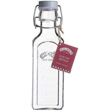 Kilner Grey Clip Top Bottle - For Storing Oils, Vinegars, Cordials - Various Sizes