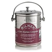 Kilner Kitchen Composter - Fruit and Veg Waste - Silver - 2 Litre