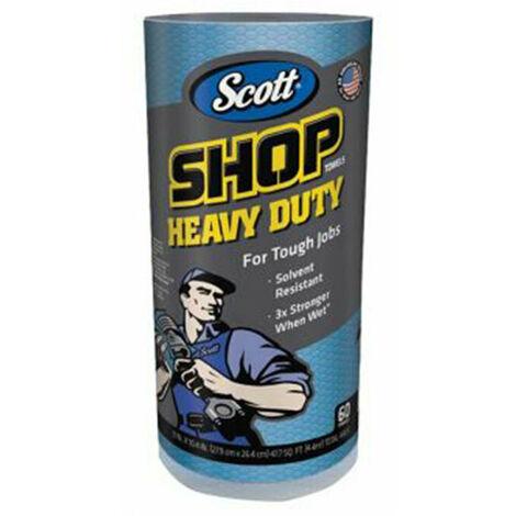 Kimberley Clarke KCL32992B SCOTT Blue Heavy-Duty Shop Cloth Roll