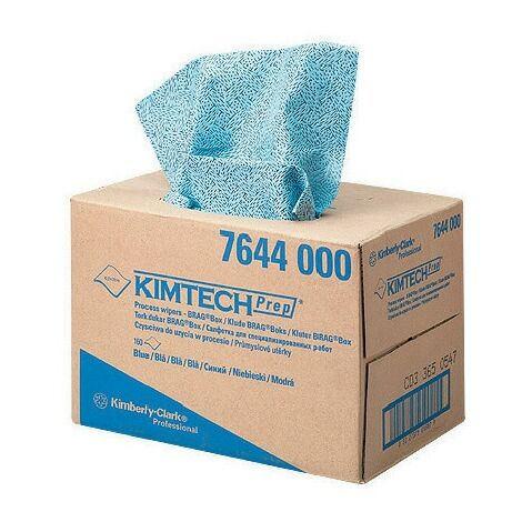 Kimtech 7644 Kimtech Prep Process Wipers Brag Box Blue
