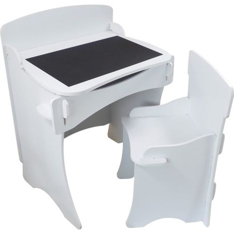 Kinder Desk and Chair - White