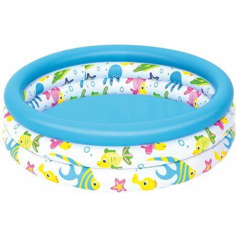 Kinder Planschbecken Kinderbecken Wasser Badespaß Pool Ocean Life 3 Ringe 102x25cm