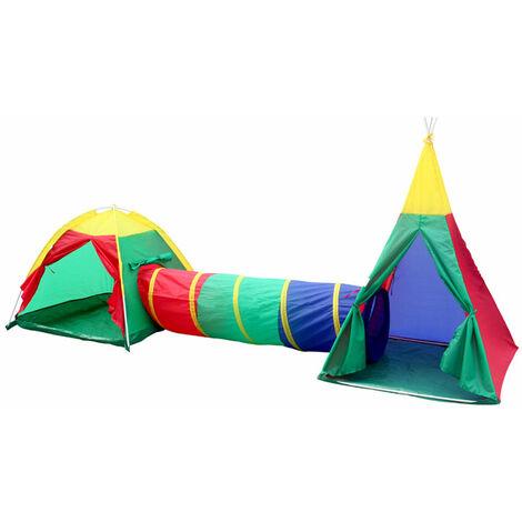 Kinder-Spielzelt-Set - Abenteuer-Zelt mit Iglu & Tipi für ...