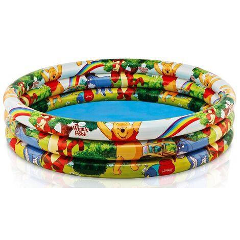 Kinderbad Winnie Pooh 3-Ring-Pool Planschbecken Pool 147x33 cm Bedespaß 58915