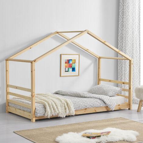 Kinderbett Vardø 90x200 cm mit Lattenrost Holz