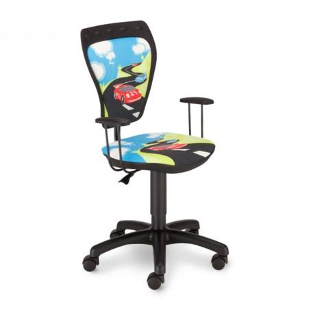 Schreibtischstuhl Kinder Zimmer Jungen Rennauto Drehstuhl Ministyle TURBO mit Armlehnen