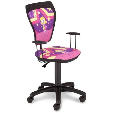 Schreibtischstuhl Kinder Zimmer Mädchen Drehstuhl Ministyle TS22 RTS SUPERSTAR mit Armlehnen