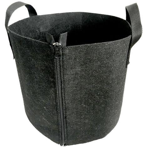 Kindergarten Blumentopf Gartentasche, 5 Gallonen, schwarzer und schwarzer Rei?verschluss