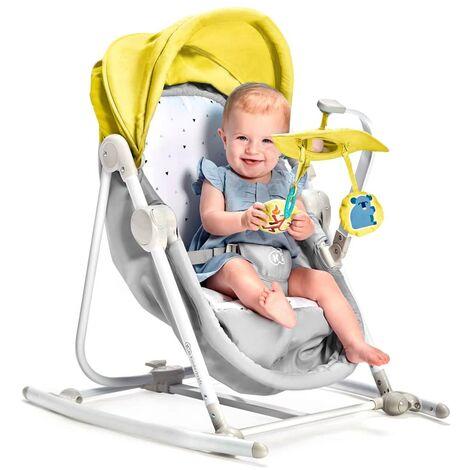 Kinderkraft UNIMO berceau 5en1 balancelle transat siège bébé pliable Jaune