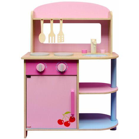 Kinderküche aus Holz mit 3 Küchenhelfer Küche Spielküche Holzküche für  Kinder