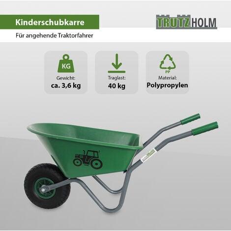 Kinderschubkarre Traktor Schiebkarre Metallschubkarre Gartenkarre Trecker