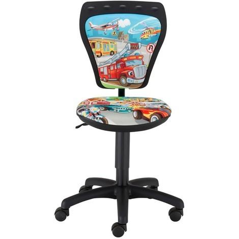 Kinderzimmer Schreibtischstuhl Kinder Jungen Autos Drehstuhl Ministyle Auto TS22 RTS