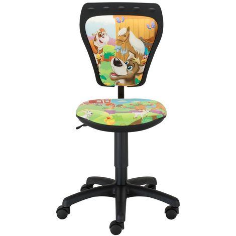 Kinderzimmer Schreibtischstuhl Kinder Tiere Drehstuhl Ministyle Cartoon Farma TS22 RTS