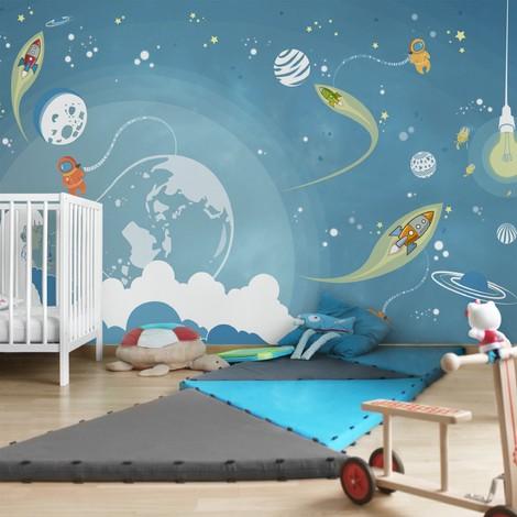 Kinderzimmer Tapeten - Vliestapeten Premium - No.MW16 Buntes ...