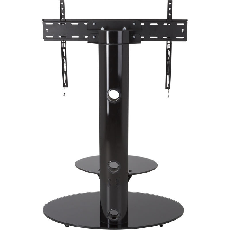 Image of Cantilever TV Stand with Brackets, Black, Oval Base, TVs up to 60' - King