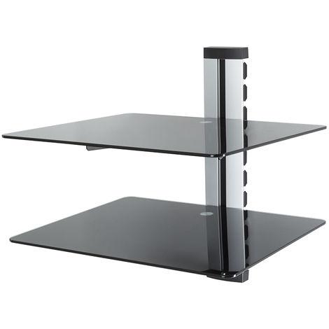 King Floating AV Shelf, Double, Silver