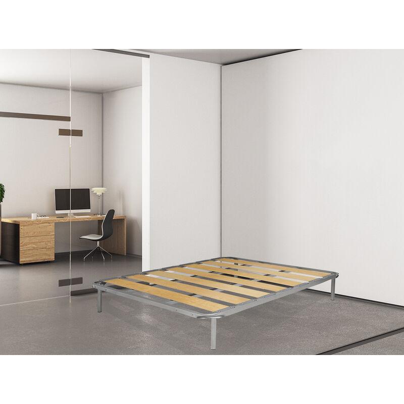 Lattenrost King mit breiten Lamellen King super orthopädisch Hergestellt in Italien-190x160, für Doppelbett - TALAMO ITALIA