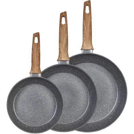 """King Service de poêle à frire en céramique """"Chalet Suisse"""", 3 pièces, 20/24/28 cm"""