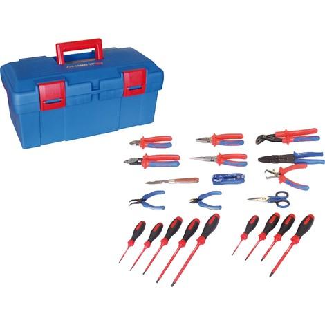 King Tony - Caja de herramientas Electricidad - 21 piezas - 41521ELECT