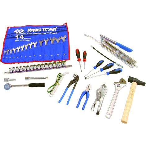 King Tony - Selección de 44 herramientas para caja - 902044MRD