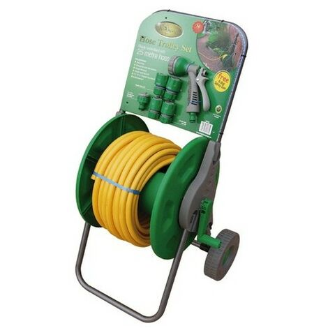 Kingfisher 625HRSX Garden Hose Trolly Set Complete with 25 Metres of Hose