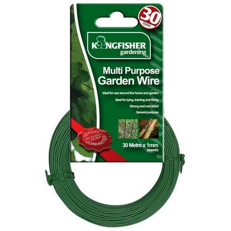 "main image of ""Kingfisher (GSW102) 30m Multi Purpose Garden Wire Green 1mm Diameter"""