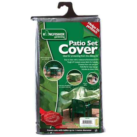 Kingfisher Medium Garden Patio Furniture Set Chair Table Cover 4 Seater Green